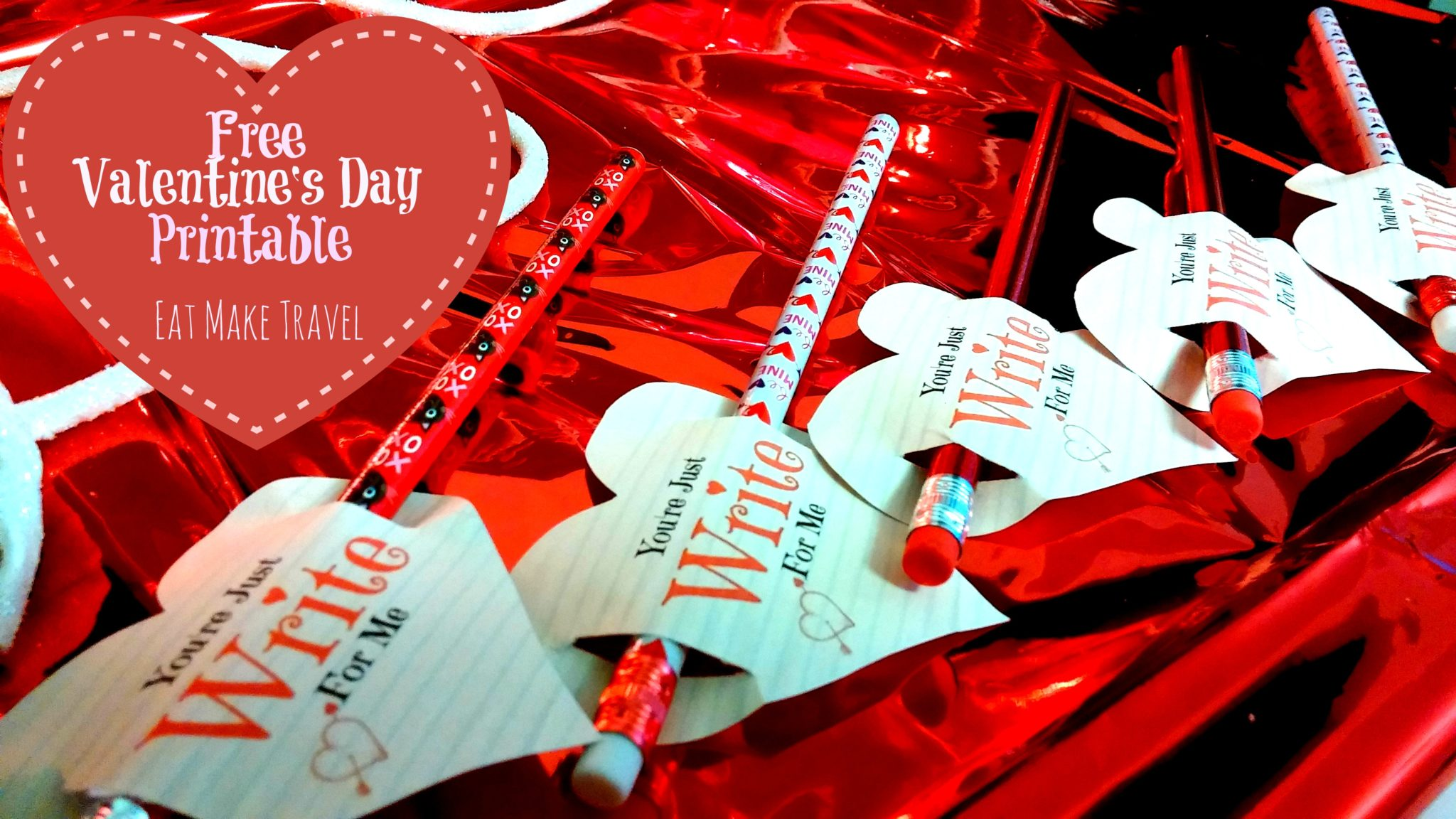 Valentine's Day Printable for Pencils (FREE PRINTABLE)