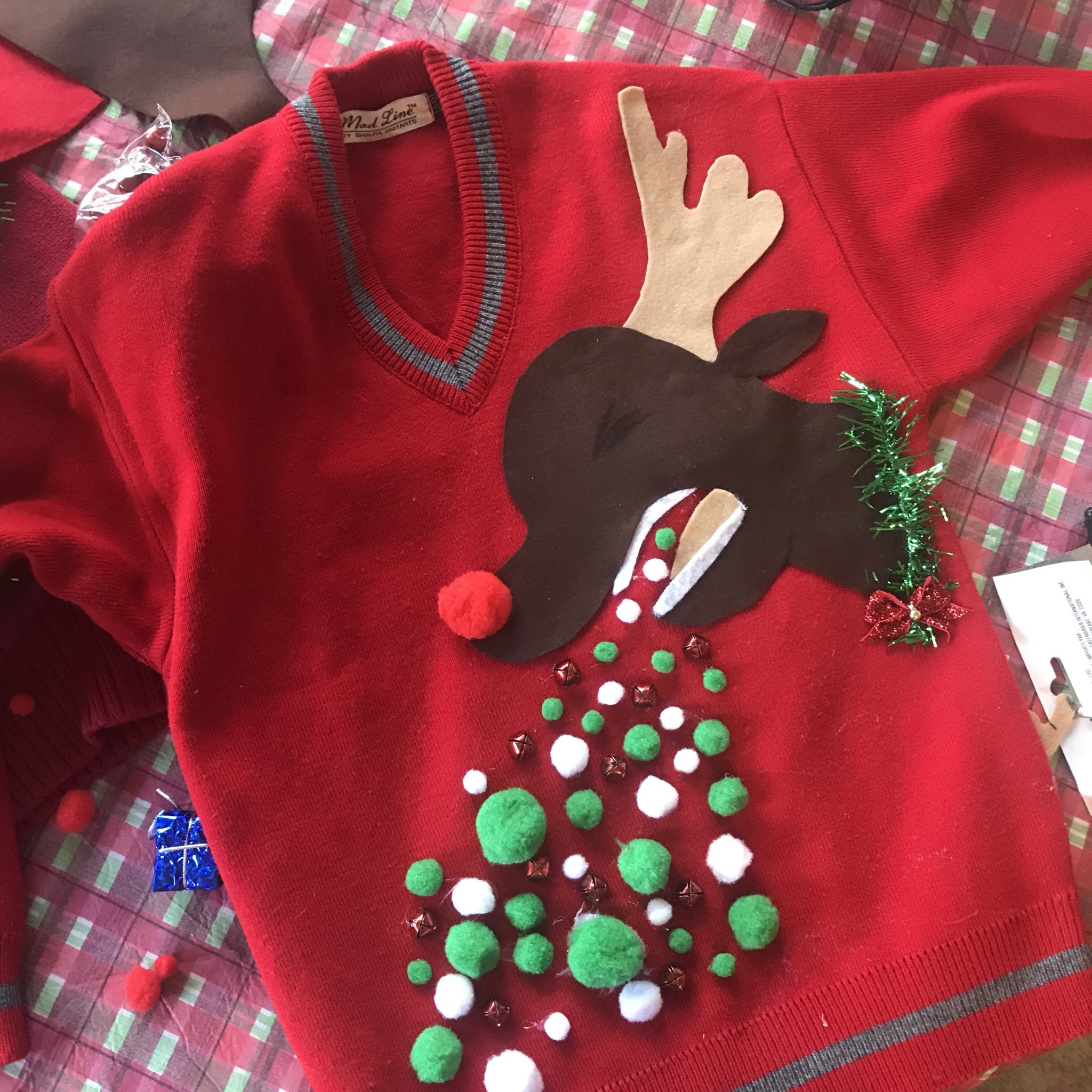 DIY Ugly Christmas Sweater (Under $6 to Make)