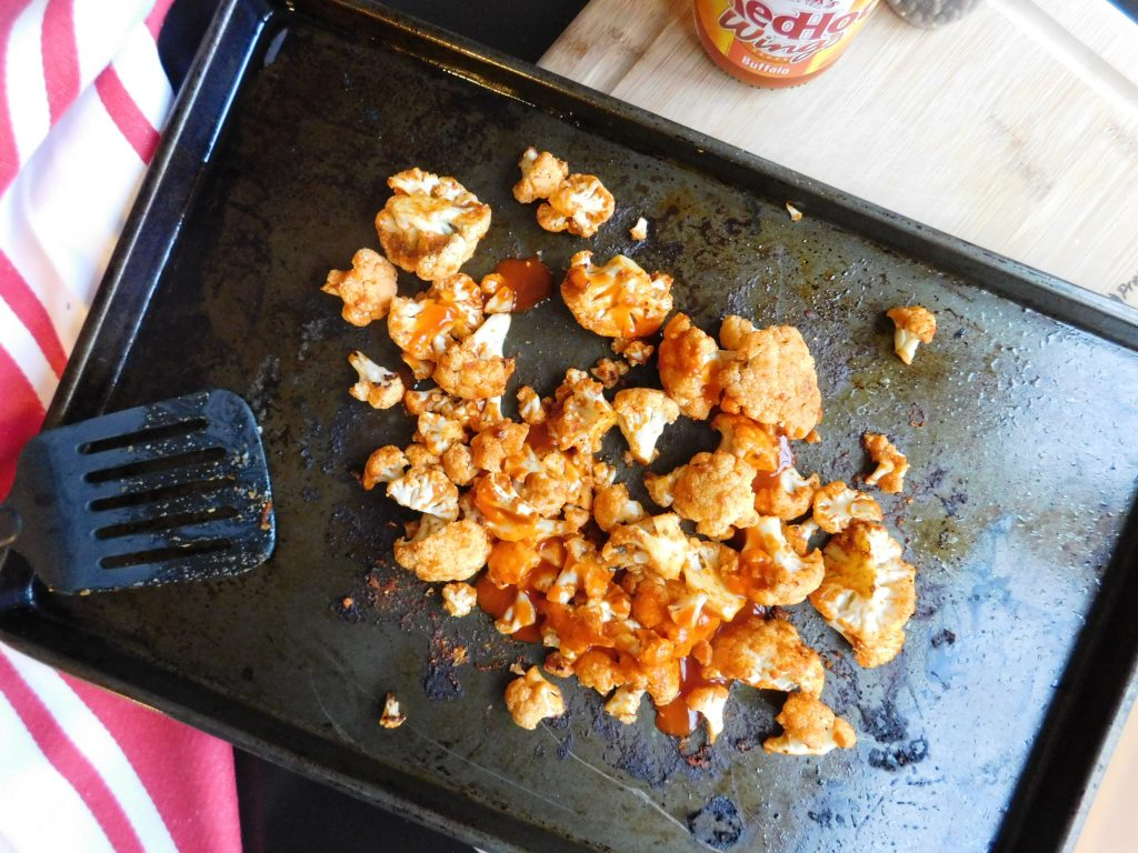 Buffalo cauliflower tacos are the perfect recipe to make for a weeknight meal. Easy, quick and delicious. Due to toppings, this recipe is vegetarian.